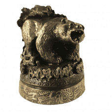 """Бронзовая статуэтка """"Алтайский медведь"""""""