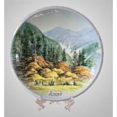 """Decorative ceramic plate """"Altai"""""""