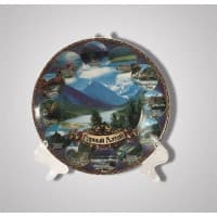 "The ceramic decorative plate ""Mountain Altai"""