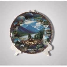 "The ceramic decorative plate ""Mountain Altai"""