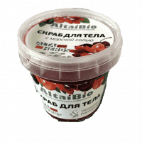 "Body scrub ""Sweet cherry and barberry"""
