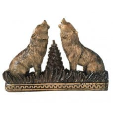 """Carved panel """"Wolves"""""""