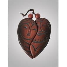 """Панно талисман на стену из дерева """"Сердце"""""""