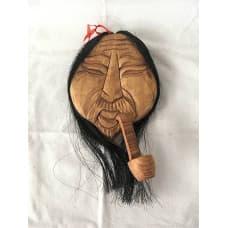 Алтайская деревянная маска с трубкой