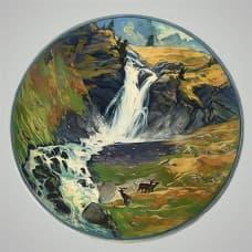 """Декоративная тарелка на стену """"Водопад"""""""