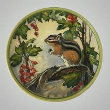 """Декоративная тарелка на стену """"Бурундучок"""""""