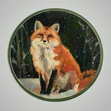 "Декоративная тарелка на стену ""Лиса"""