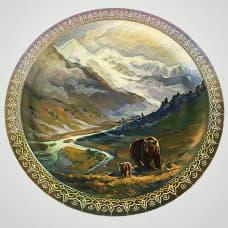 "Декоративная тарелка на стену ""Медведица"""