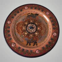 Декоративная тарелка на стену с грифонами