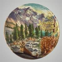 """Декоративная тарелка на стену """"Соболь"""""""