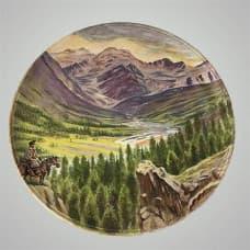 "Декоративная тарелка на стену ""Всадник"""