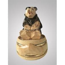 Бочонок для меда с медведем