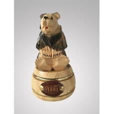 Кедровый бочонок с медведем малый