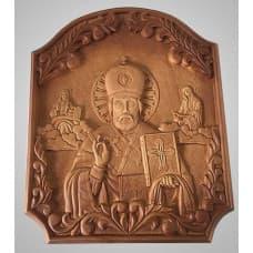 "Carved wooden icon ""Nicholas The Wonderworker"""