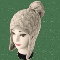 Кашемировая шапка с помпоном женская