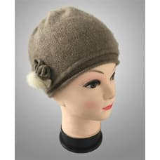 Зимняя кашемировая шапка