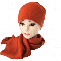 Двусторонняя кашемировая шапка