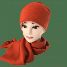 Двусторонняя кашемировая шапка женская