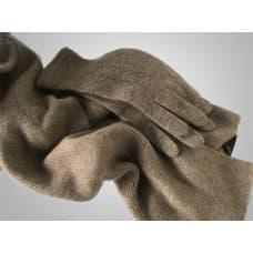 Женская шапка, перчатки и шарф из кашемира