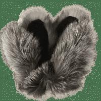 Варежки из меха чернобурки