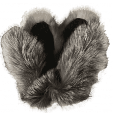 Fur wares of silver fox