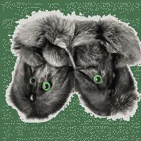 Тапочки из чернобурки