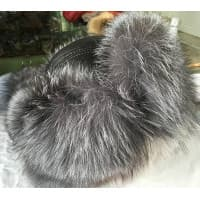The men's cap with ear-flaps from the gray silver fox