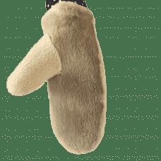 Варежки из стриженого меха бобра женские