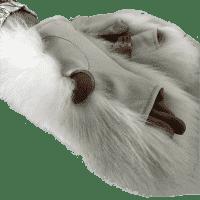 Митенки из белого песца женские