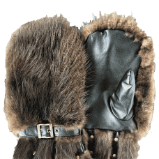 Big mittens made of beaver fur