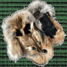 Варежки из меха лисы