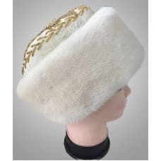 Женская шапка боярка из норки