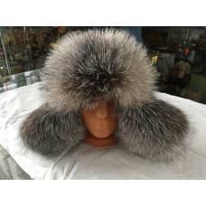 Песцовая женская шапка ушанка