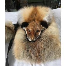 Bag from fur of a red fox