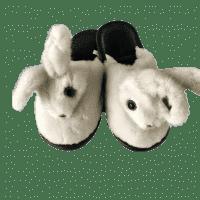 Тапочки из меха белой норки
