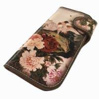 Женский кошелек из натуральной кожи с рисунком